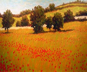 ITALIAN POPPY FIELDS - click to view larger image...