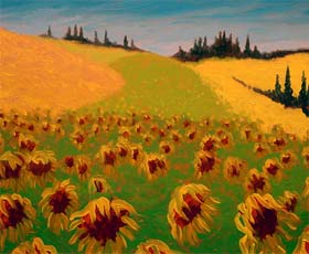 TUSCAN SUNFLOWERS - click to view larger image...
